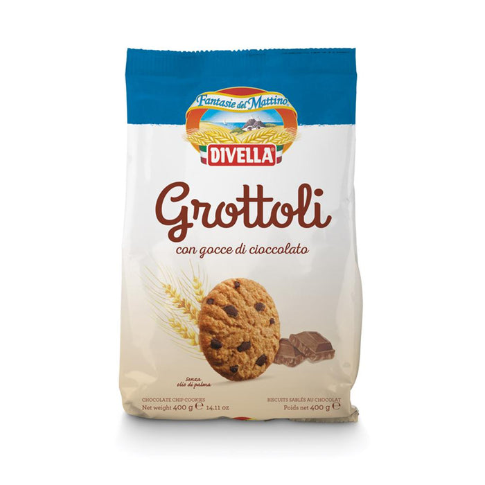 Grottoli Chocolate chips - Biscotti, 400 g - 14.11 oz