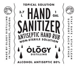 1 Gallon Liquid Hand Sanitizer Refill