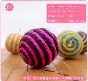 Cat Toys Rolling Ball Cat Mouse Kitten Interactive Stick Funny Fishing Rod Game Wand Feather Stick Toy Pet Supplies Accessory