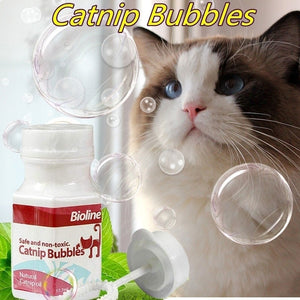 Narutal Catnip Garden Catnip Bubbles Catnip Essential Oil Spray Toys Non-Toxic Bouncy Bubbles Blaster Funny Cat Toy