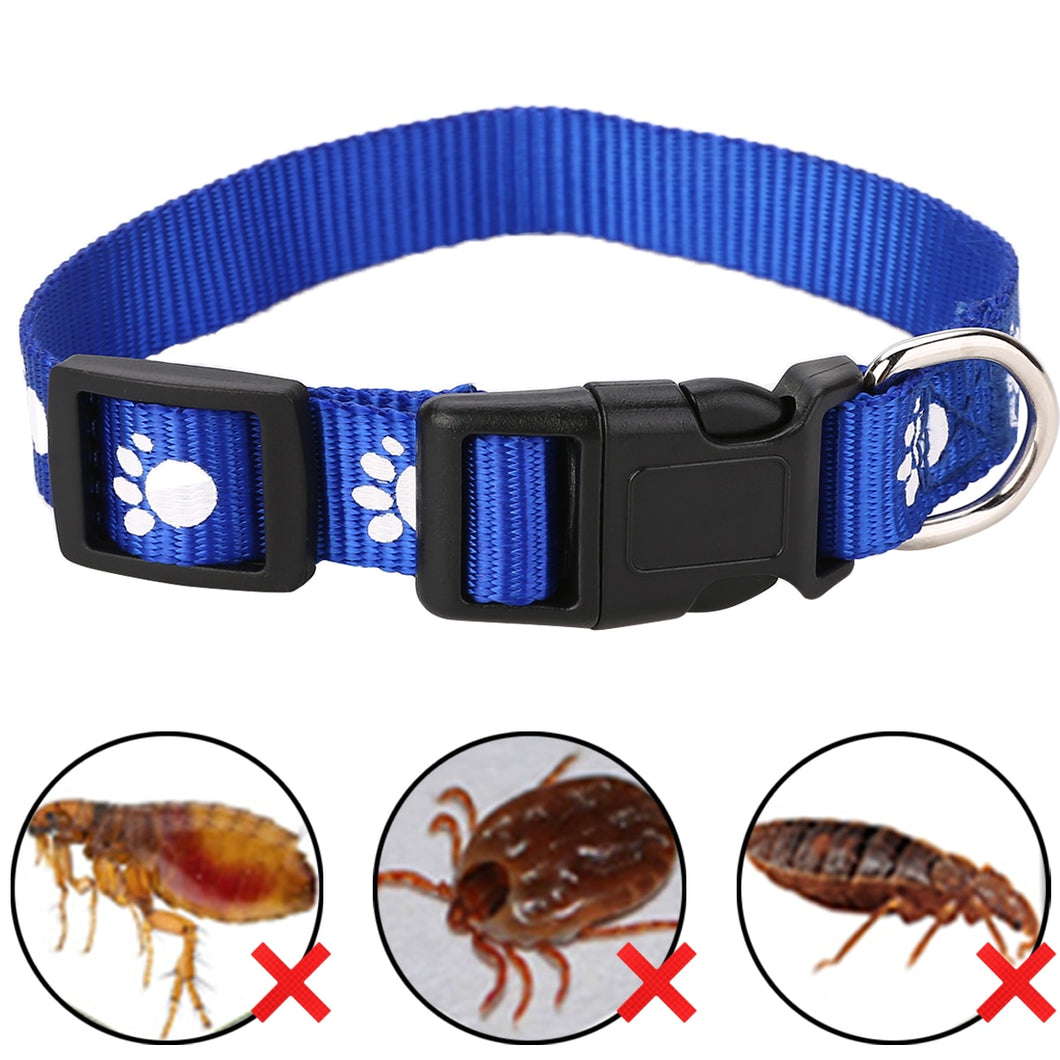 1pc Adjustable Cat Anti Flea Tick Louse Collar Cat Protection Neck Ring Collar Nylon for Small Big Cat Color Random