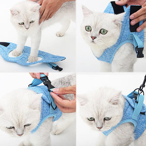 Cat Harness Escape Proof Small Cat and Dog Vest Harness with Reflective Strap Soft Mesh Adjustable Cat Walking Jacket for Kitten