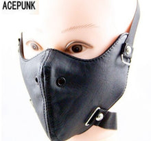 Load image into Gallery viewer, Punk Black PU Leather Masks 2020 New Party Cool Men Fashion Motorcycle Punk Rock Face Mask Hip-hop Halloween Party Masks