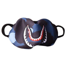 Load image into Gallery viewer, Women Men Unisex Hip Hop Trendy Half Face Mouth Mask Shark Colorful Camouflage Earloop Elastic Anti-Dust Kpop Muffle Protective