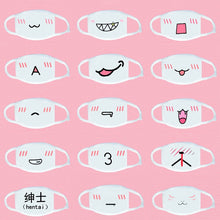 Load image into Gallery viewer, Cute Emoticon Mouth Mask Fashion Winter warm Cotton Funny Anime Emotiction Kawaii Half Face Mask Respirator Supplies KPOP masks