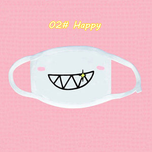 Cute Emoticon Mouth Mask Fashion Winter warm Cotton Funny Anime Emotiction Kawaii Half Face Mask Respirator Supplies KPOP masks