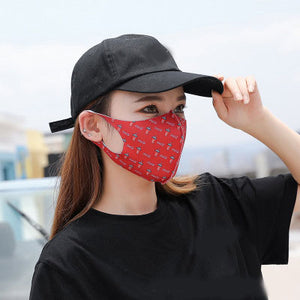 Women Dust Mask Breathable Cotton Fashion Black Pink Reusable Face Maske High Quality Pollution Washable Mouth Face Mask