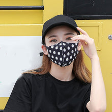 Load image into Gallery viewer, 1pc Ice Silk Mask Female Women Cotton Sunscreen Dustproof Mouth Mask Breathable Masks Cute Print Hip Hop Street Cycling Mask