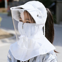 Load image into Gallery viewer, Safety dust mask cover with hat anti flue spittle anti dust cover full face eyes protection mask