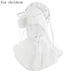 Safety dust mask cover with hat anti flue spittle anti dust cover full face eyes protection mask