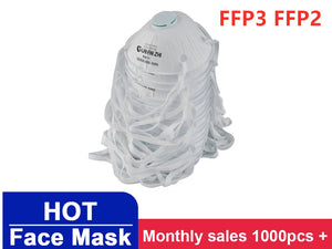 In Stock !1/5/10/20pcs FFP2 FFP3 Protective Mask Anti-Fog Headband Round Dust-Proof Maschere
