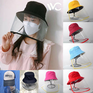 New Anti-saliva Dust-proof Hat With Mask Safety Transparent Protective Mask Plastic Anti-fog Saliva Hats Face Shields Mask