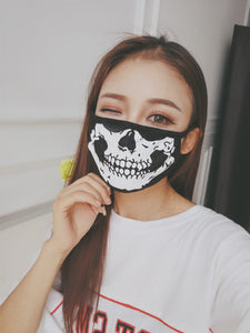Face Mask Cotton Mouth Mask Skull Anti Haze Dust Masks Filter Windproof Mouth-muffle Winter Health Care Thick Masks