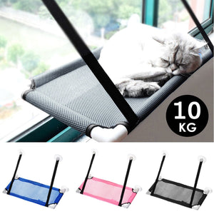 10Kg Pet Hammock Cat Basking Window Mounted Seat Home Suction Cup Hanging Bed Mat Lounge Cats Kitten Supplies 3 Colors 60x34cm