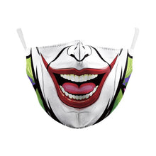 Load image into Gallery viewer, VIP FASHION Funny Pattem Print Grimace Ghost Skeleton Half Face Mask Reusable Protective Dustproof bacteria proof Flu Mouth Mask