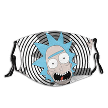 Load image into Gallery viewer, Rick Sanche Reusable Face Mask with Filter Rick and Morty Anti Bacterial Dustproof Mask Protection Cover Respirator Mouth Muffle