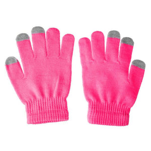 1 Pair Unisex Winter Warm Capacitive Knit Gloves Hand Warmer For Touches Screen Smart Phone  UND Sale