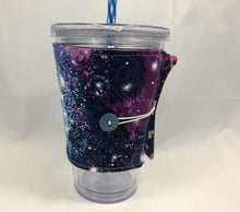 Load image into Gallery viewer, Galaxy Reversible Coffee Cozy, Unicorn Coffee Sleeve, Insulated Cozy - EcoHip Custom Designs