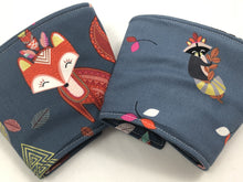 Load image into Gallery viewer, Animal Reversible Coffee Cozy, Insulated Drink Sleeve, Owl Coffee Cup Cuff - EcoHip Custom Designs