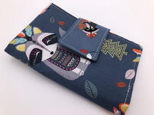 Animal Shark Week Bag, Privacy Pouch, Tampon Case, Sanitary Pad Wallet, Fox - EcoHip Custom Designs