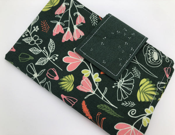 Forest Green Time of the Month Case, Travel Tampon Wallet, Sanitary Pad Pouch - EcoHip Custom Designs