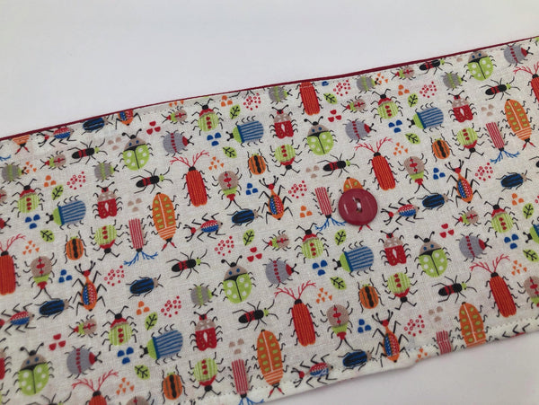 Ugly Bug Crayon Roll, Creepy Crawly Crayon Case, Bug Stocking Stuffer - EcoHip Custom Designs
