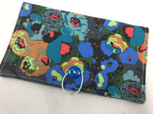 Load image into Gallery viewer, Green Duplicate Checkbook Cover, Posies Check Book Wallet, Women's Checkbook - EcoHip Custom Designs