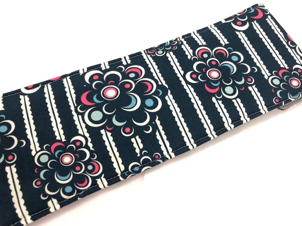 Blue Curling Iron Sleeve, Flat Iron Case, Travel Curling Wand Bag, Pink - EcoHip Custom Designs