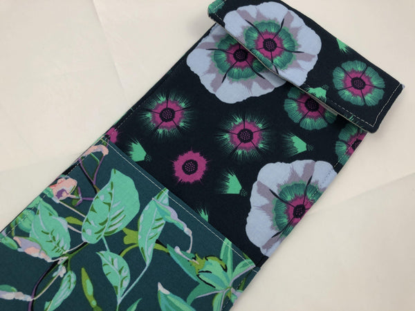 Curling Iron Cover, Flat Iron Holder, Travel Hair Straightener Sleeve, Marine Green - EcoHip Custom Designs