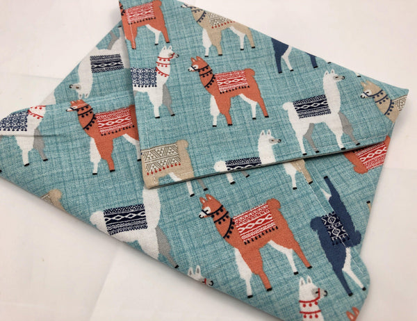 Eco-Friendly Sandwich Bag Wrap, Reusable Lunch Napkin,  Animals, Llamas - EcoHip Custom Designs