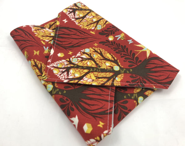 Eco-Friendly Sandwich Bag Wrap, Reusable Napkin, Red Tree - EcoHip Custom Designs