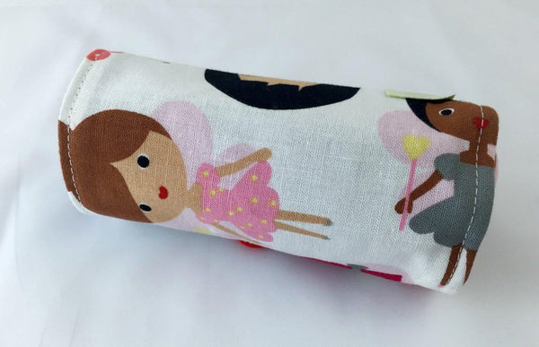 Fairy Crayon Roll, Toddler Travel Toy, Girl's Crayon Case, Diaper Purple Crayon Caddy - EcoHip Custom Designs