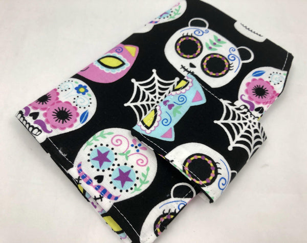 Feminine Products Case, Tampon and Sanitary Pad Holder, Tampon Bag, Day of the Dead - EcoHip Custom Designs
