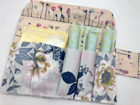 Feminine Products Pouch, Tampon and Sanitary Pad Holder, Tampon Wallet, Wild Posy - EcoHip Custom Designs