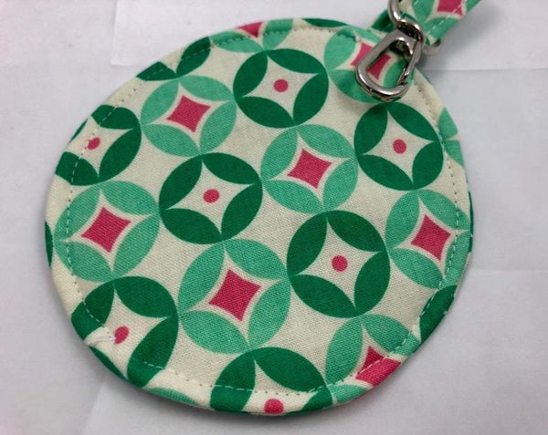 Green Earpod Case, Ear Pod Pouch, Lens Cap Holder, Tiny Zipper Pouch - EcoHip Custom Designs