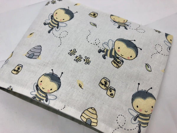 Honey Bee Snack Bag, Kid's Snack Bag, Reusable Lunchbox - EcoHip Custom Designs