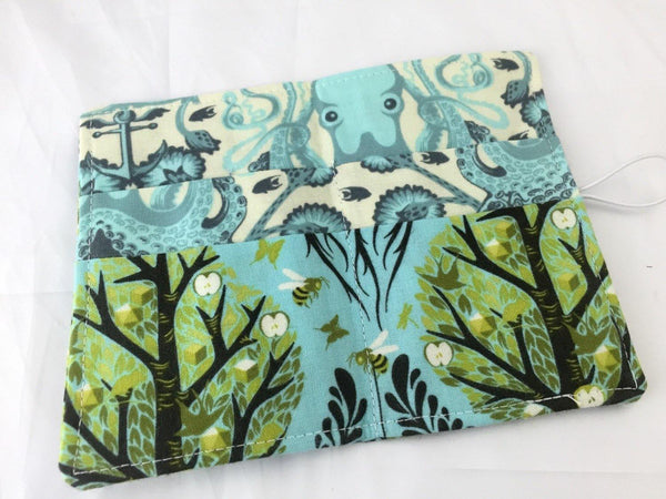 Tree of Life, Blue Tea Bag Wallet, Tea Lovers, Business Card Holder - EcoHip Custom Designs