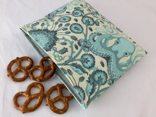 Octopus Snack Back, Nautical Snack Baggie, Reusable Nautical Lunch - EcoHip Custom Designs