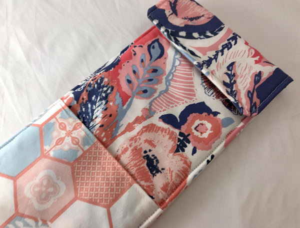 Blue Curling Iron Holder, Pink Flat Iron Case, Travel Curling Wand Bag - EcoHip Custom Designs