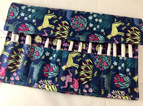 Overnight Makeup Brush Roll, Blue Make Up Brush Case for Makeup  Artists - EcoHip Custom Designs