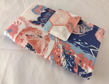 Load image into Gallery viewer, Blue Sanitary Pad Holder, Rose Pink Tampon Wallet Case - EcoHip Custom Designs