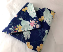 Load image into Gallery viewer, Navy Blue Sandwich Bag, Peacock Sandwich Wrap, Reusable School Lunch - EcoHip Custom Designs