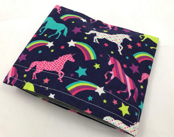 Unicorn Snack Bag, Reusable Kid's Snack Baggie for School, Purple Snack Pouch - EcoHip Custom Designs