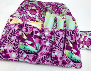 Fox Sanitary Pad Pouch, Purple Tampon and Pad Case, Time of the Month Wallet - EcoHip Custom Designs