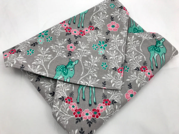 Forest Deer Sandwich Bag, Reusable Napkin for School Lunch, Gray Eco-Friendly Wrap - EcoHip Custom Designs