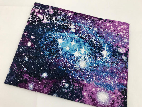 Galaxy Snack Bag, Purple Snack Baggie, Galaxy Space Lunch Bag - EcoHip Custom Designs