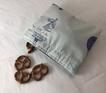 Load image into Gallery viewer, Air Balloon Snack Bag, Light Blue Reusable Snack Baggie - EcoHip Custom Designs