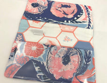 Load image into Gallery viewer, Red, Blue, Floral, Duplicate Check Book Cover, Women's Checkbook - EcoHip Custom Designs