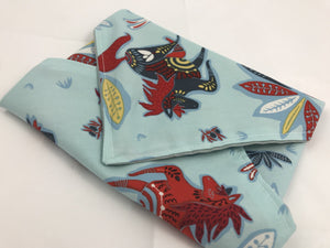 Horses Sandwich Wrap, Bunny Rabbit Sandwich Bag, Blue Kid's Lunch Napkin - EcoHip Custom Designs