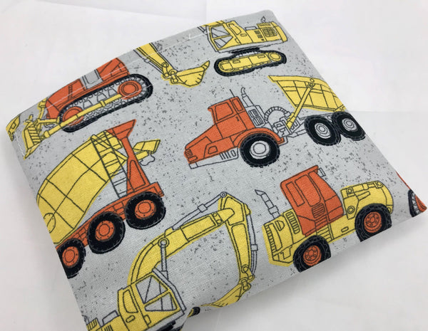 Construction Trucks Snack Bag, Gray Reusable Snack Bag, Dump Truck Lunch Box - EcoHip Custom Designs
